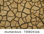 abstract texture of dry clay on ... | Shutterstock . vector #730824166