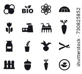 16 vector icon set   atom core  ... | Shutterstock .eps vector #730825852