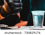 master tattoo artist prepares... | Shutterstock . vector #730829176