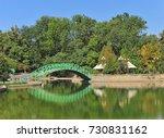 tashkent  green metal bridge on ... | Shutterstock . vector #730831162