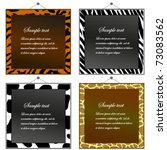 Four Animal Print Frames To Pu...