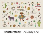 cartoon doodle illustrations... | Shutterstock . vector #730839472