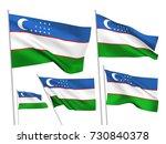 uzbekistan vector flags set. 5... | Shutterstock .eps vector #730840378