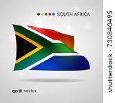 south africa 3d style glowing... | Shutterstock .eps vector #730840495