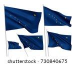 alaska state vector flags set....   Shutterstock .eps vector #730840675