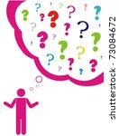 concept for question or...   Shutterstock .eps vector #73084672