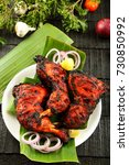arabic food  spicy tandoori...   Shutterstock . vector #730850992