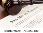 last will and testament on... | Shutterstock . vector #730853182