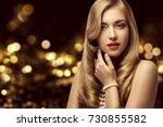 woman beauty portrait  elegant... | Shutterstock . vector #730855582