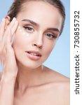beauty concept  beauty portrait ... | Shutterstock . vector #730855732