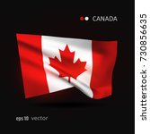 canada 3d style glowing flag... | Shutterstock .eps vector #730856635
