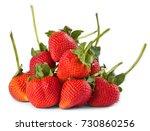 long stemmed strawberries | Shutterstock . vector #730860256
