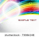 abstract festive rainbow