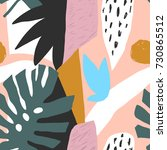 contemporary floral seamless... | Shutterstock .eps vector #730865512
