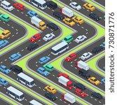 urban cars seamless texture.... | Shutterstock .eps vector #730871776