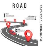 road infographic vector... | Shutterstock .eps vector #730871998