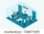 qualitative isometry  3d...   Shutterstock .eps vector #730877695