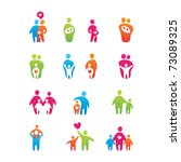 Set Of Icons   Kids And Parents