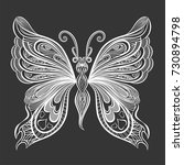 beautiful  butterfly. vector...   Shutterstock .eps vector #730894798