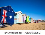 brighton beach  melbourne ...   Shutterstock . vector #730896652