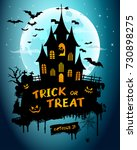 halloween night background... | Shutterstock .eps vector #730898275