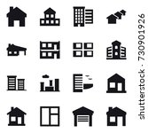 16 vector icon set   home ... | Shutterstock .eps vector #730901926