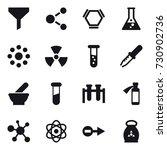 16 vector icon set   funnel ... | Shutterstock .eps vector #730902736