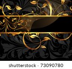 vintage dark golden card with... | Shutterstock .eps vector #73090780