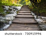 unique place for hiking  ... | Shutterstock . vector #730915996