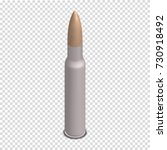 photorealistic bullet isolated... | Shutterstock .eps vector #730918492