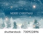 we wish you merry christmas and ... | Shutterstock . vector #730922896