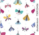 beautiful seamless pattern with ... | Shutterstock .eps vector #730923436