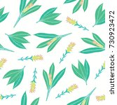 natural seamless pattern with... | Shutterstock .eps vector #730923472