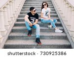 Lovers On The Steps. The...