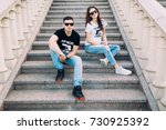Lovers On The Steps.the...