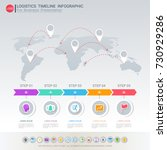logistic infographic template... | Shutterstock .eps vector #730929286