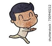 cartoon friendly man | Shutterstock .eps vector #730940212