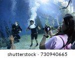 the siam ocean world aquarium... | Shutterstock . vector #730940665