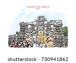 vector illustration of konark... | Shutterstock .eps vector #730941862