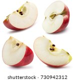 collection of apple slices... | Shutterstock . vector #730942312