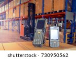 bluetooth barcode scanner in... | Shutterstock . vector #730950562