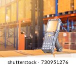 bluetooth barcode scanner in... | Shutterstock . vector #730951276