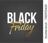 abstract vector black friday... | Shutterstock .eps vector #730955605