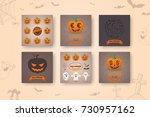 halloween backgrounds... | Shutterstock .eps vector #730957162