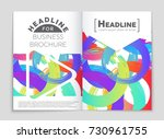 abstract vector layout... | Shutterstock .eps vector #730961755