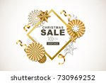 christmas or new year sale... | Shutterstock .eps vector #730969252