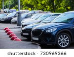cars for sale stock lot row.... | Shutterstock . vector #730969366