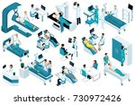 set isometric  medical workers... | Shutterstock .eps vector #730972426