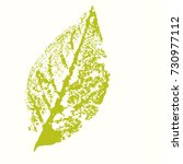 gouache stamp of a leaf. eco...   Shutterstock .eps vector #730977112