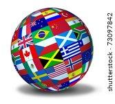 world flags sphere symbol... | Shutterstock . vector #73097842